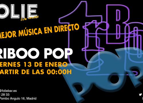 Triboo Pop en concierto, la mejor música en directo. Viernes 2 de diciembre.