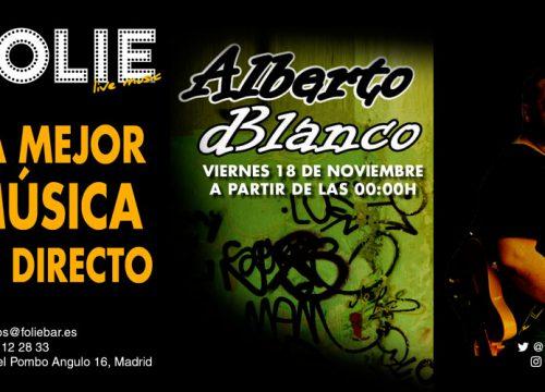 Alberto dBlanco en directo, en Folie.
